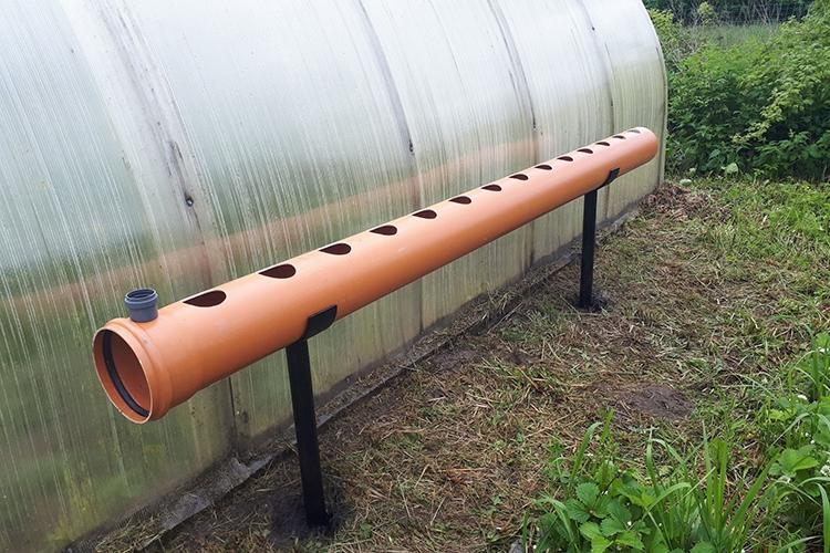 Изготовление горизонтальной конструкции для посадки клубники в трубах ПВХ