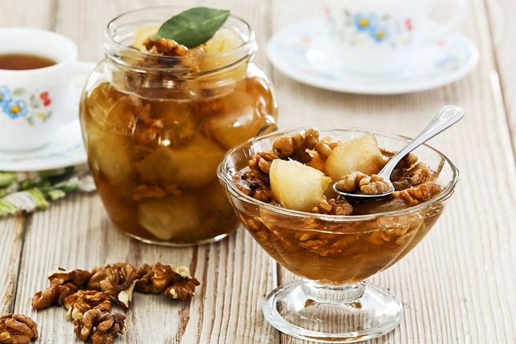 Варенье из груши с орехами