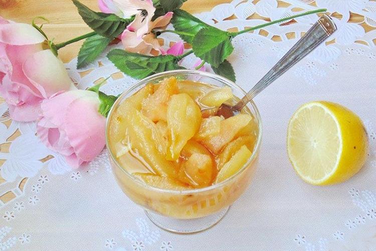 Варенье из груш и лимонов
