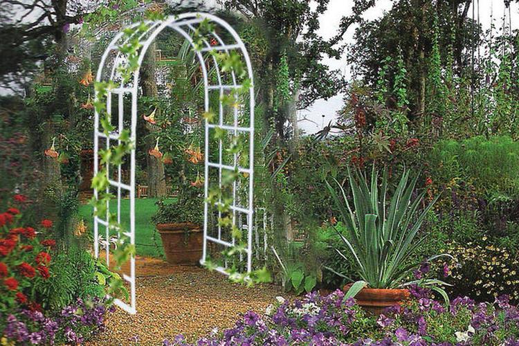 применение формы в садовой дизайне