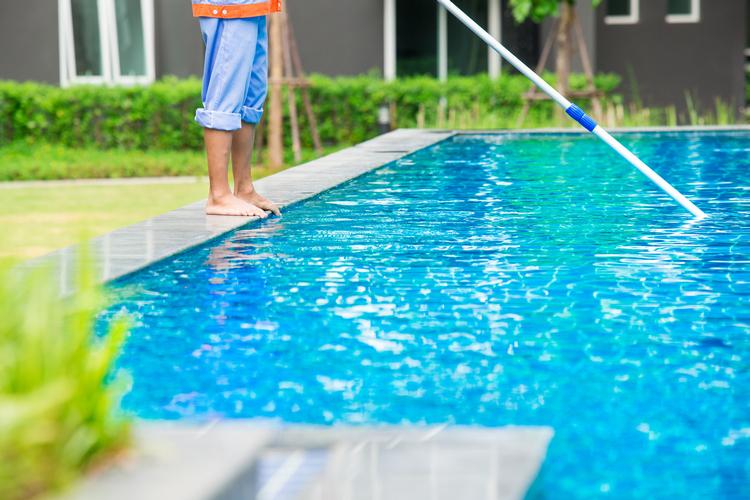 очищенный бассейн