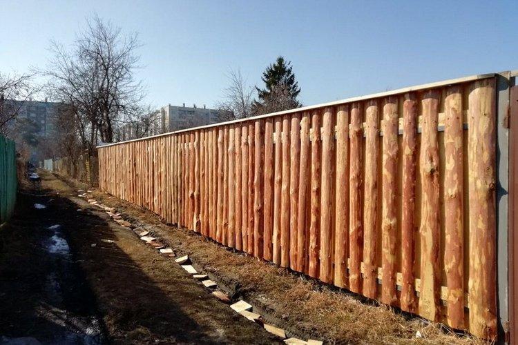 горбылевый забор на даче