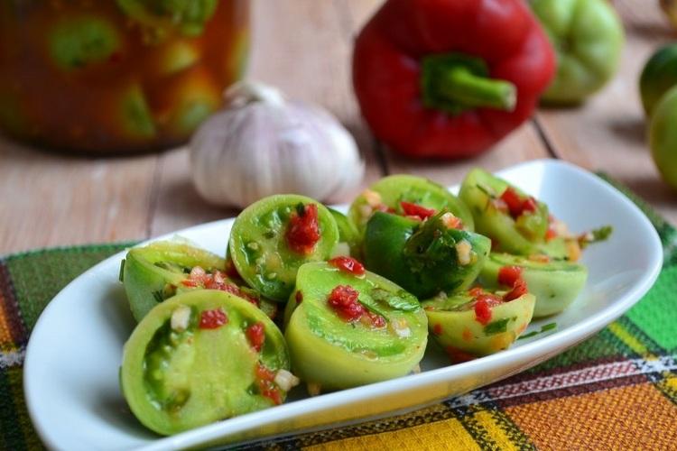 лучшие рецепты консервированных зеленых помидор
